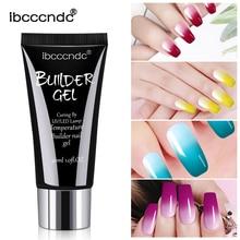 30g Quick Building UV Gel Acrylic Polygel Nail Extension Tips Temperature Color Change Builder Art