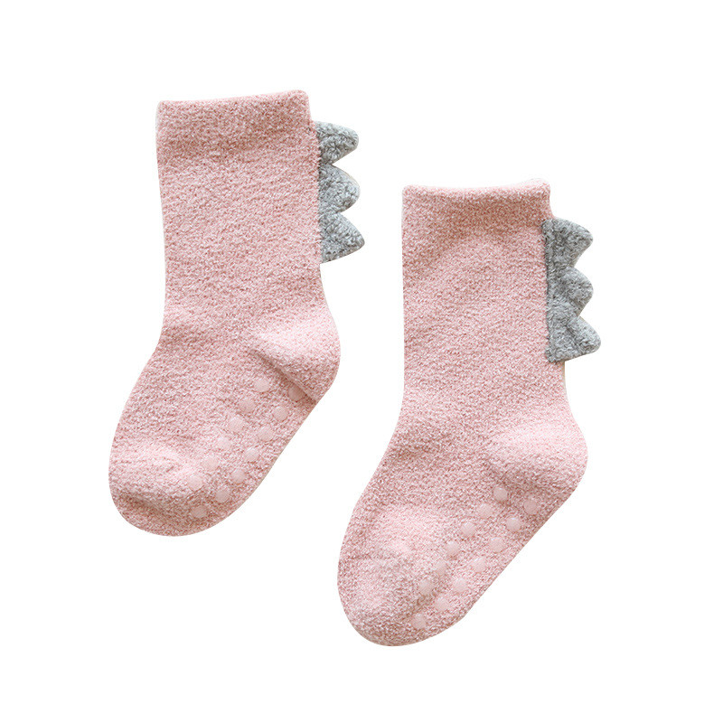 Coral fleece Kids Girls Socks Winter Warm Baby Boy Socks Anti Slip Newborn Baby Girl Socks for Children Snow Clothes Accessories 4