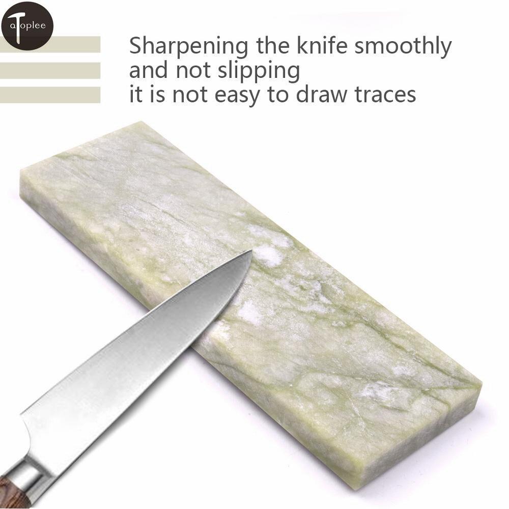 1Pcs 4 Types 10000 Grit Oil Stone Knife Sharpener Sharpening Stone Polishing Whetstone Honing Stone Nature Jade Grindstone