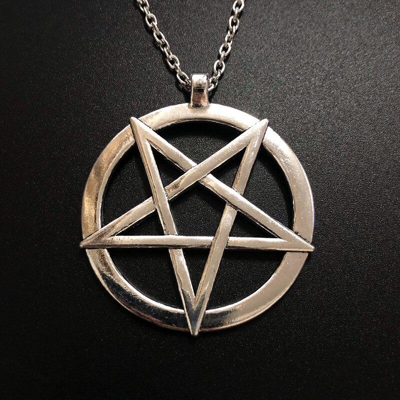 Модная обувь с изображением перевернутой пентаграммы кулон сатанинский символ ожерелье унисекс амулет ювелирные изделия
