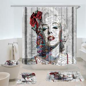 Shower Curtain Decor Bathroom-Accessories Fabric Waterproof Marilyn Monroe
