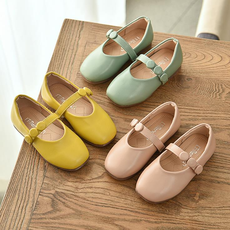 Children Girls PU Shoes Girls Princess Shoes Flat Casual Dance Shoes  21-36  3colors TI9803 TX07