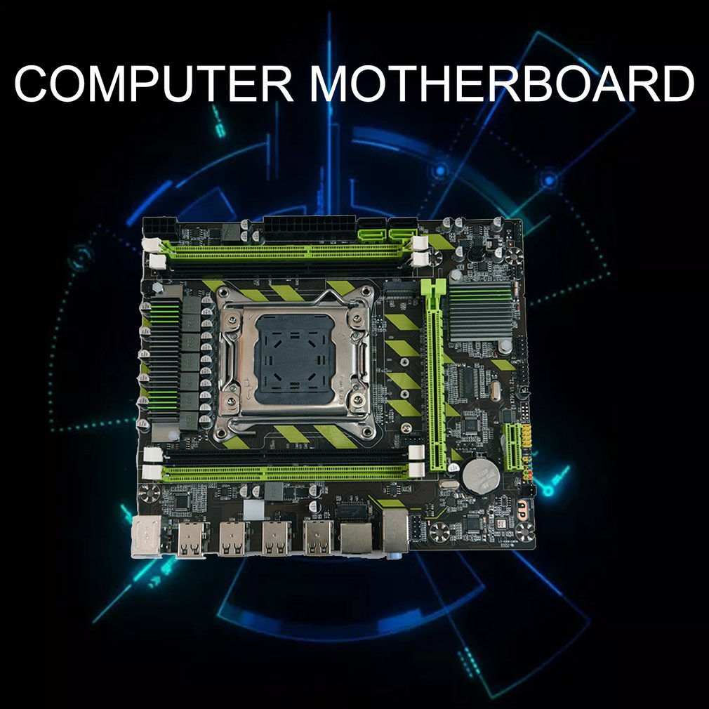 X79G X79 Motherboard LGA 2011 USB2.0 SATA3 Support REG ECC Memory And Xeon E5 CPU 4pcsx4GB=16GB Processor 4DDR3  PCI-E NVME M.2 2