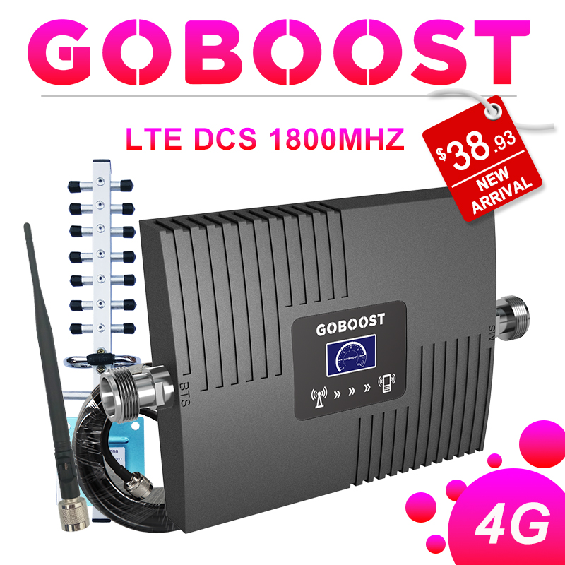4G Repeater LTE 4G DCS 1800MHZ Cellular Signal Booster GSM 2G LCD Display For Mobile phone Signal Amplifier Yagi+Whip Antenna #