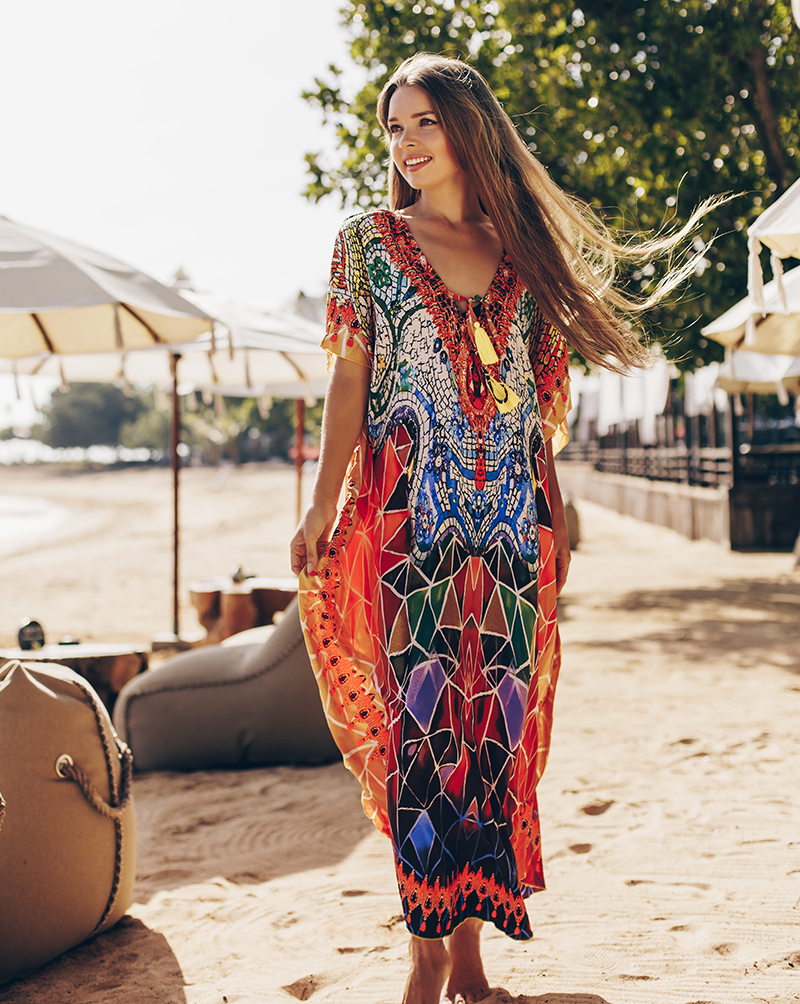 New Plus Size Beach Cover Up Sarong 2020 Robe De Plage Quick Drying Swim Cover Up Bikini Cover Up Pareo Beachwear Sexy Long