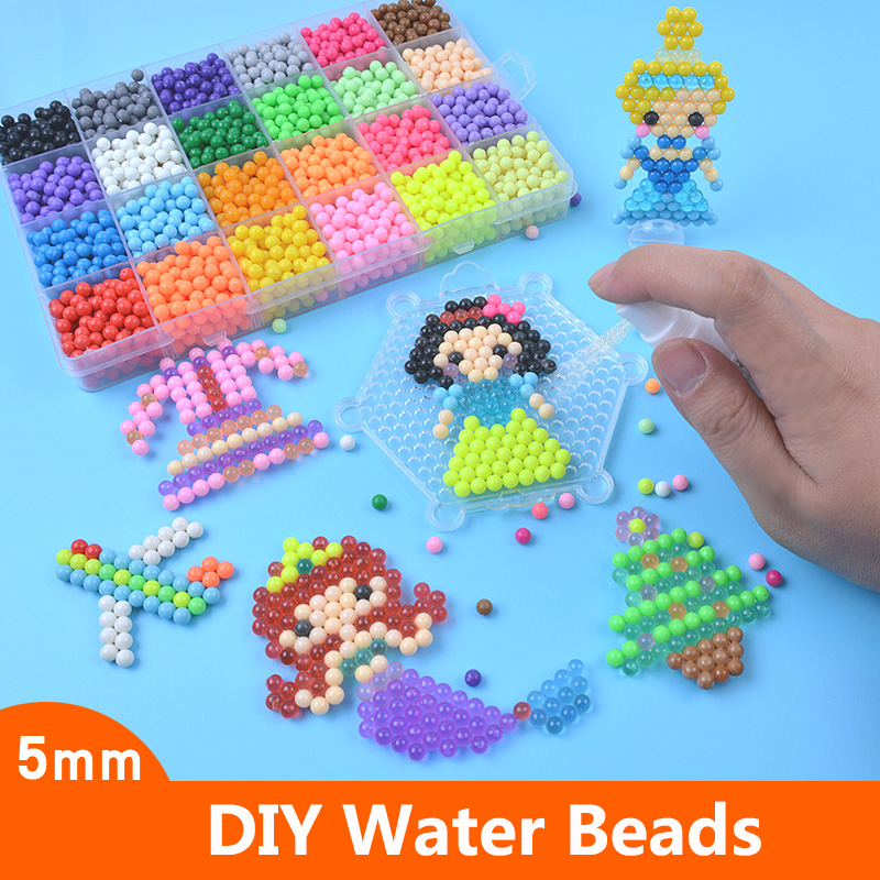 DIY Sticky Water Magic Beads Toy Sets For Children Kit Animal Molds Hand Making 3D Beads Educational Puzzle Crafts Toys For Kids