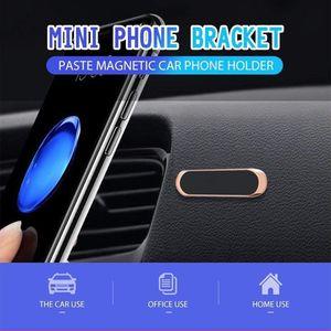 Мини магнитный автомобильный держатель для телефона наклейка мобильный телефон подставка крепление для iPhone 11 XS X Samsung S10 + Xiaomi Huawei