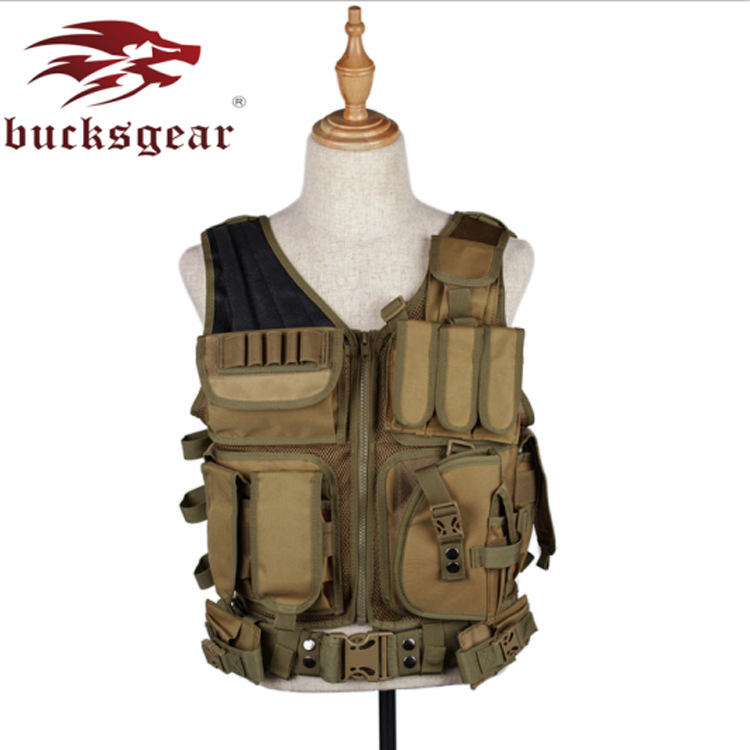 Outdoor Multi-functional Molle Tactical Wang Shan Vest Waterproof Amphibious Tactical Camouflage Waistcoat