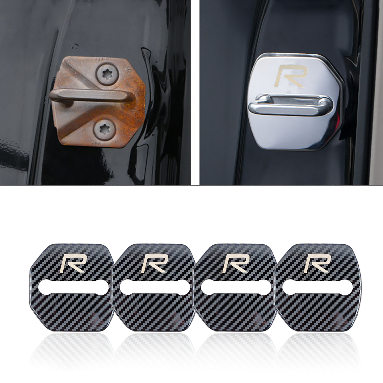 4pcs set Anti Rust Car Door Lock FOR Volvo RDESIGN R DESIGN for Volvo V70 XC60 S60 V60 V40 XC90 Car accessories