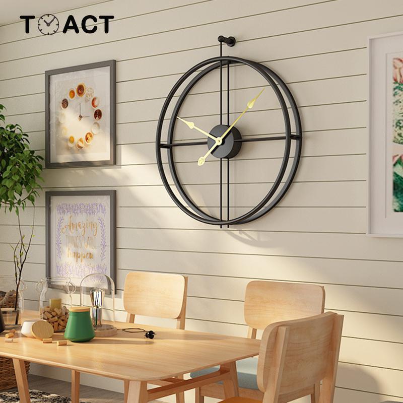 Image 4 - Wrought Lron Wall Clock Home Decoration Office Large Wall Clocks  Mounted Mute Watch European Modern Design Hanging WatchesWall Clocks