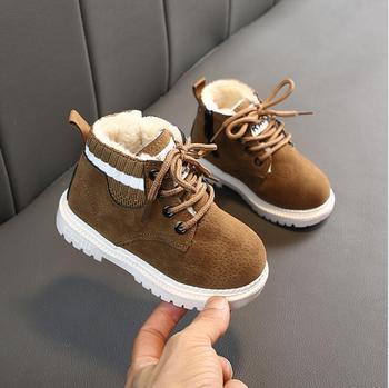 Buty dla dzieci buty dla maluchów dziewczynki dla chłopców buty zimowe dla dzieci buty dla dzieci ciepłe buty dla dzieci buty dla dzieci tanie i dobre opinie RUBBER 10-12 M 13-18 M 19-24 M 2-3Y 4-6Y 7-9Y 10-12Y 13-14Y Zima Buty śniegu Płytkie Mieszkanie z Pluszowe Unisex ANKLE