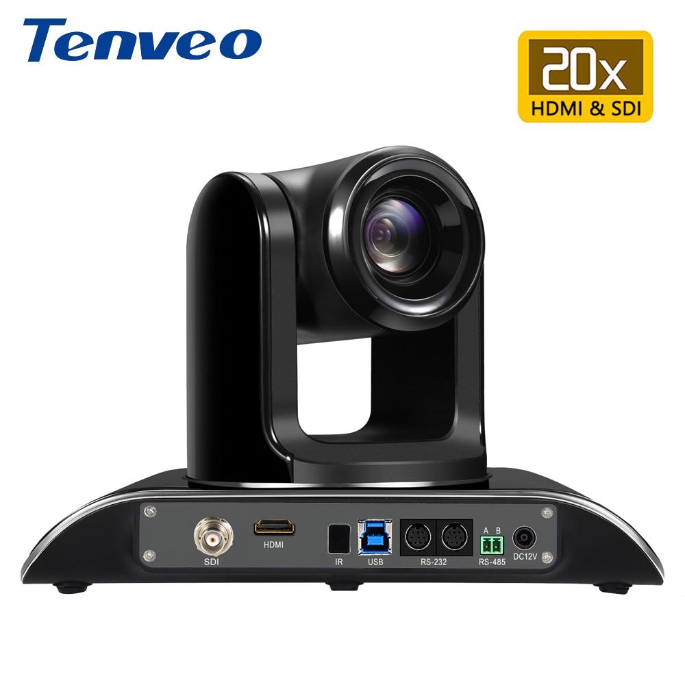 EU Stock Tenveo VHD203U 1080p60fps 2MP 20X PTZ Streaming Video Camera Conference HDMI USB SDI
