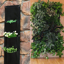 Wall Hanging Planting Bags Pockets Green Grow Bag Planter Vertical Garden Vegetable Living Garden Bag Home Supplies(China)