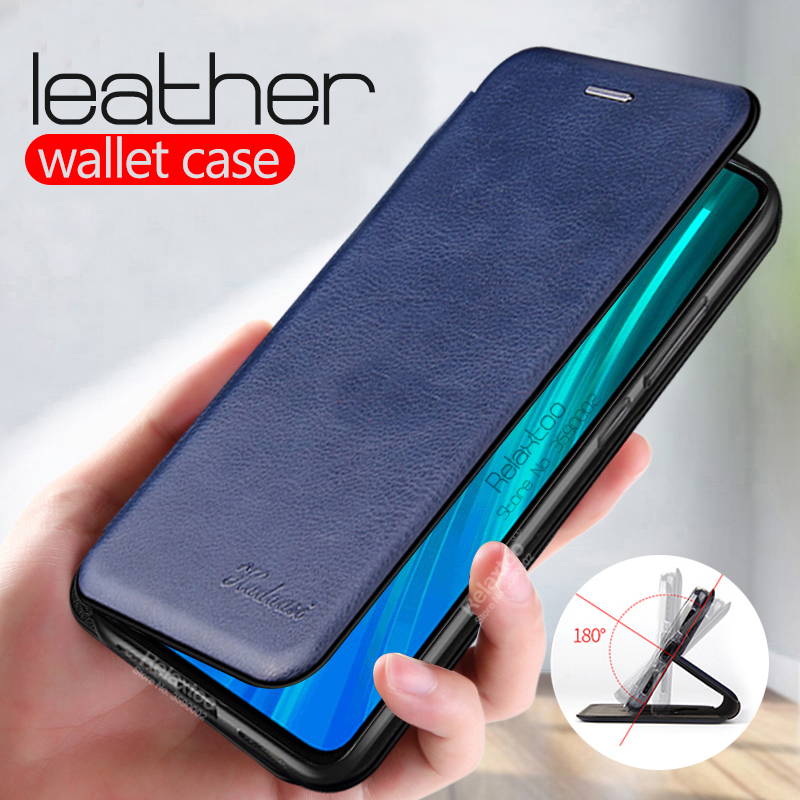 luxury leather flip case For xiaomi redmi note 8t 8 t stand wallet phone cover on xiomi xaomi redmi note 8 7 6 5 pro case Coque(China)