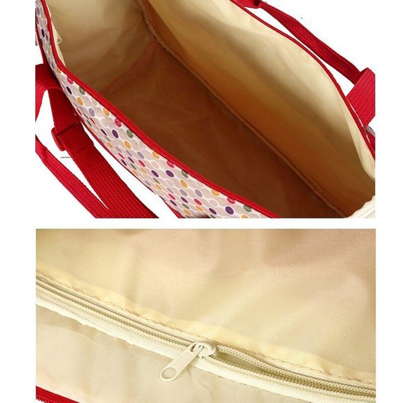 Image 4 - Набор 5 комплектов Мама сумка для детской бутылочки материнская карманная сумка/Сумочка для детской тележка коляска бутылочка для кормления матрас для еды сотыСумка для хранения подгузников   -