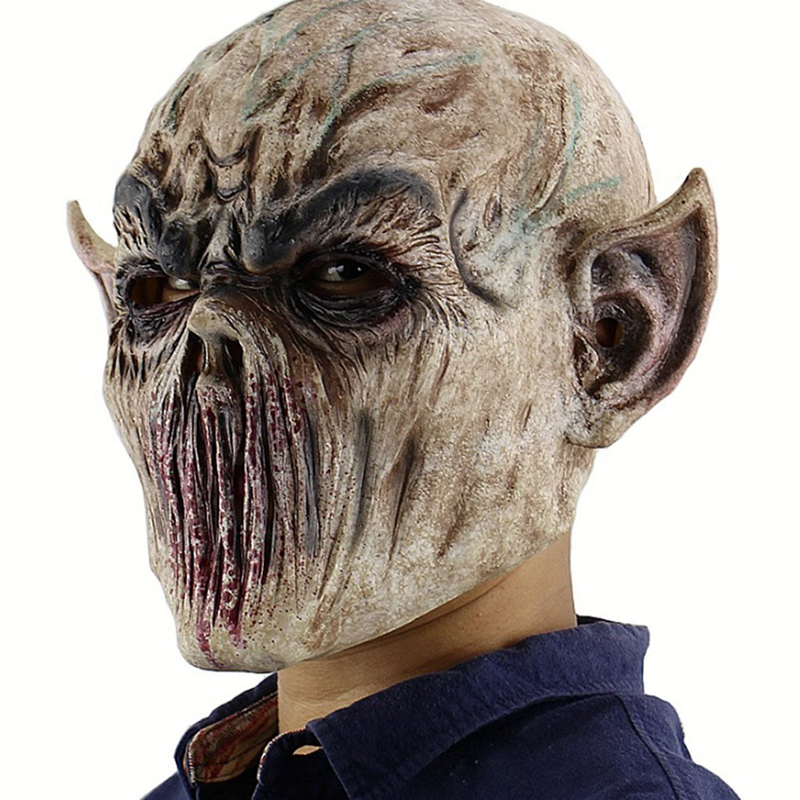 Halloween Bloody Scary Horror Mask Adult Zombie Mask Latex Costume Party Full Head Cosplay Mask Masquerade Props