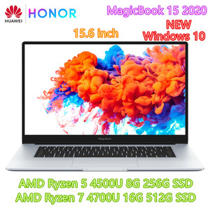 Original HUAWEI HONOR MagicBook 15 2020 Laptop Computer 15.6 inch AMD Ryzen r5-4500U/r7-4700U Windows 10 Pro