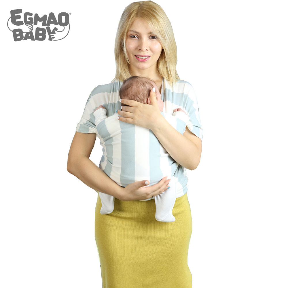 EGMAO BABY New Baby Sling Baby Carrier Wrap For Newborns Striped Cotton Elasticity Kangaroo Infant Backpack For Toddle & Infants