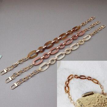 Mix Color Baroque Style Acrylic Clutch Chain Women Fashion Detachable Hand Elegant Bag Vintage One Shoulder