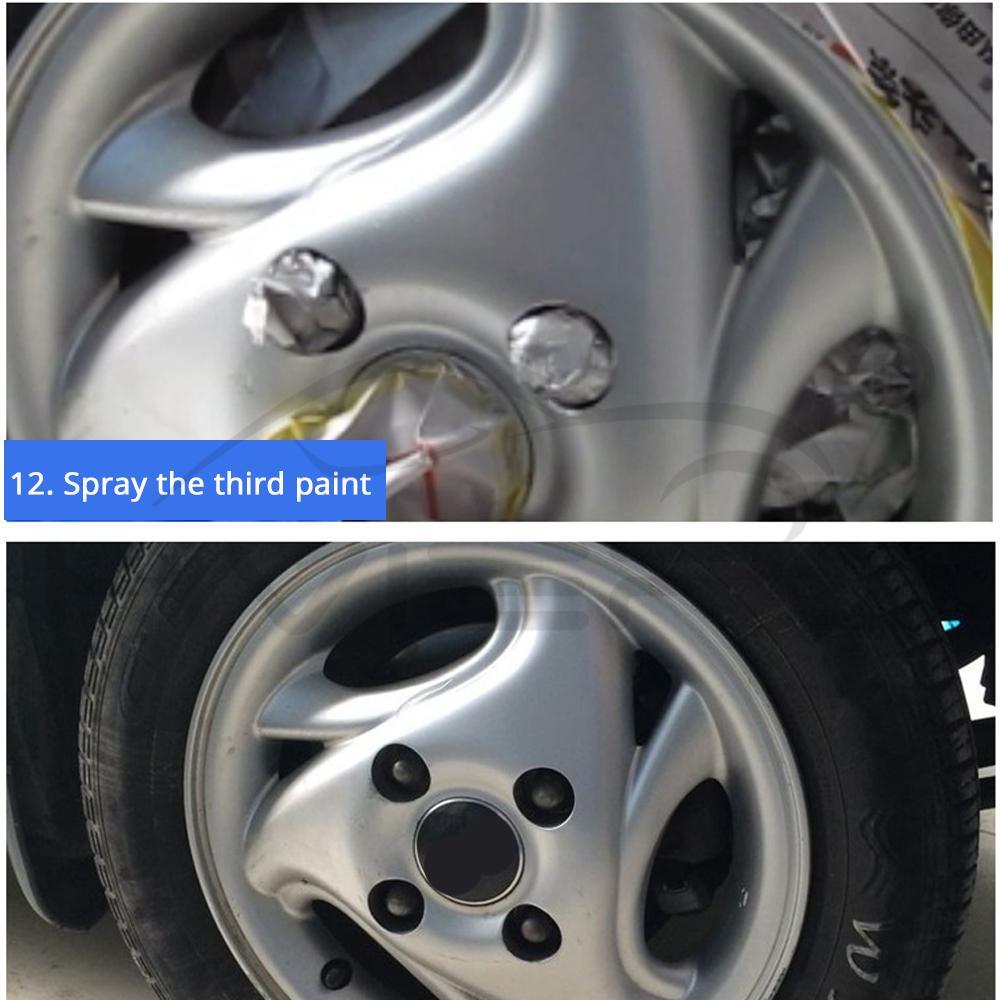 Car Paint Scratch Repair Pen Wheel Touch Up Paint Cleaner Painting Pens Marker Pen Brush Paint Car Tyre Tread Care Spray Paint 6