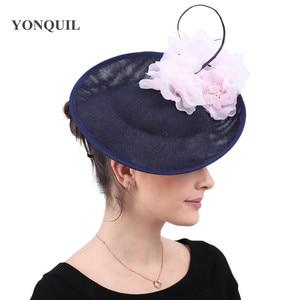 Image 2 - Charming Big Hair Fascinators For Kenducky Nice Hats Elegant Women Fedora Caps Fancy Nice Flower Ladies Headwear Hair Pins