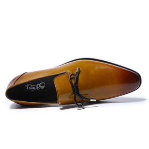 Image 5 - FELIX CHU Men Wedding Dress Shoes Genuine Leather Brown Black Loafers for Men Slip On Mens Fashion Italian Shoes With Bow Tie