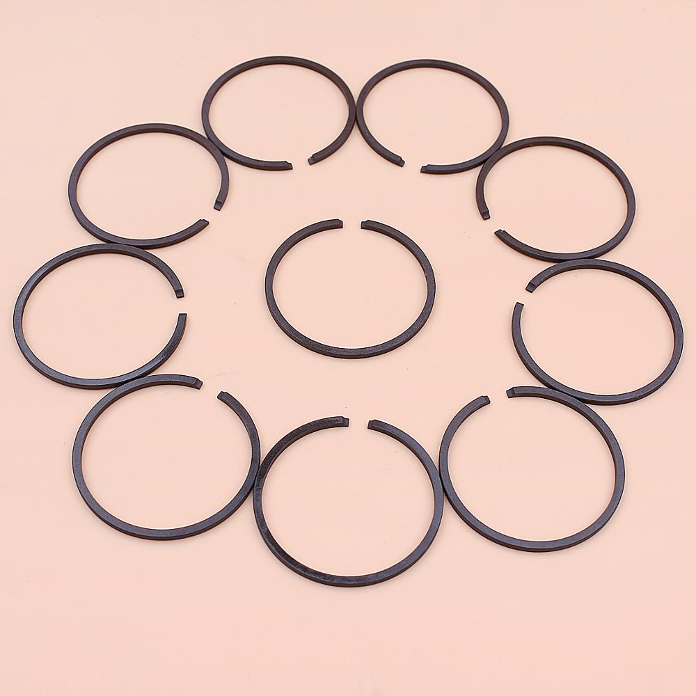 10pcs/lot Piston Ring Set For String Hedge Trimmer Strimmer Chainsaw Garden Tool Replace Spare Part 33mm X 1.5mm
