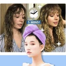 Women Towel Cap Quick Dry Hair Wrap Microfiber Shower Cap Bathing