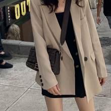 Женский офисный костюм пальто осень 2020 свободный повседневный