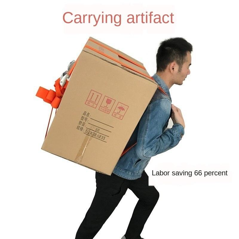 Única correia do transporte que move o ombro do artefato e a parte traseira labor-saving mobília que segura a corda pesada da tração da logística