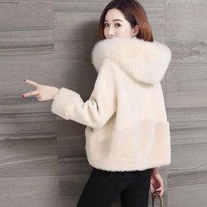 Image 2 - Giacca da donna in pelliccia di montone imitazione giacca invernale nuova pelliccia di volpe una pelliccia sciolta