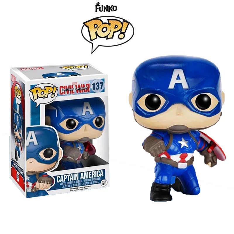 Funko pop Marvel Urbanvinyl Капитан Америка кукла модель игрушки брелок Мстители Капитан Америка Рождественский подарок для детей