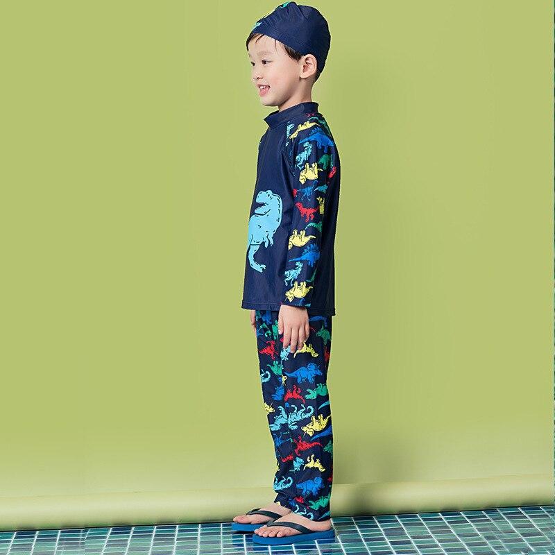 2018 BOY'S Split Type Bathing Suit Long Sleeve Trousers