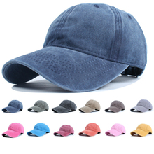 Casual Men Cotton Solid Washed  Baseball Cap Women Baseball Hat Girl Adjustable Snapback Caps Bone Dad Hats Retro Sunhat trucker