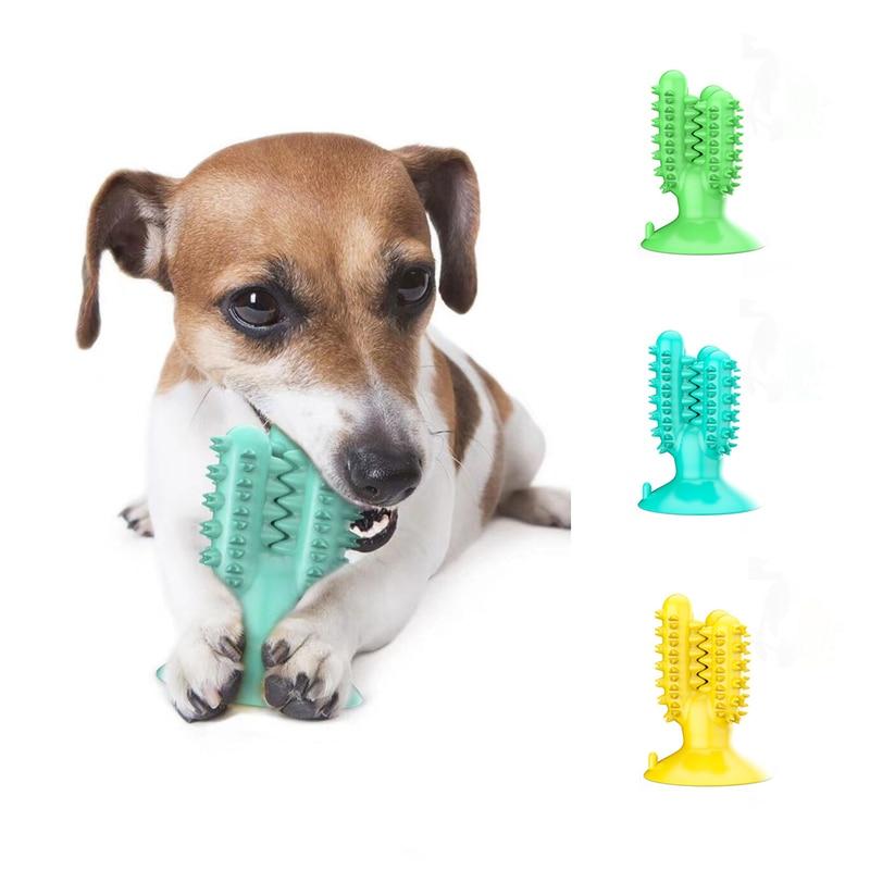 Прочные резиновые жевательные игрушки для собак зубная щетка экологически чистая чистка зубов маленькие большие игрушки для собак Щенок П...