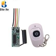 433 MHz kablosuz uzaktan kumanda anahtarı 5V LED alıcı modülü ve verici uzaktan kumanda RF anahtarı işık kontrol