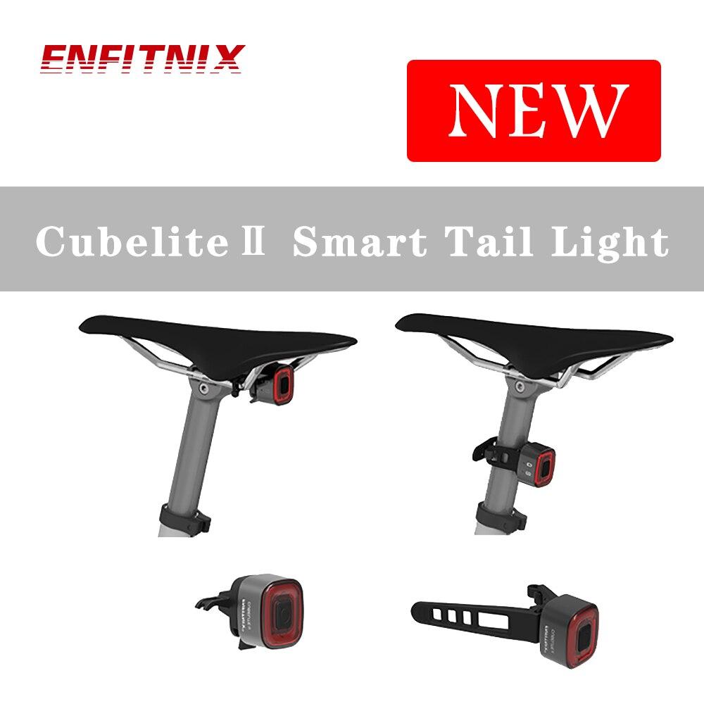 ENFITNIX Cubelite2-linterna inteligente para bicicleta, con sensor de freno, luz LED impermeable para el día, lámpara de sillín Para KIA SPORTAGE (K00) 1994-2003 Gas cargado trasero maletero resortes de elevación de Gas fibra de carbono soporte amortiguador 410,5mm