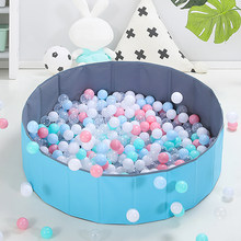 Foldable Infant Ball Pool Shining Ball Pit Balls For Dry Pool Washable Ocean Ball Playpen Toys Folding Fence Kids Room Decor Toy(China)