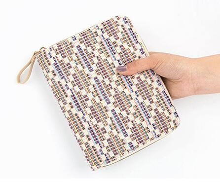Farbic Material Zipper Bag Fashion A6 Journal Book 128 Sheets DIY Scheduler Agenda Gift Free Shipping