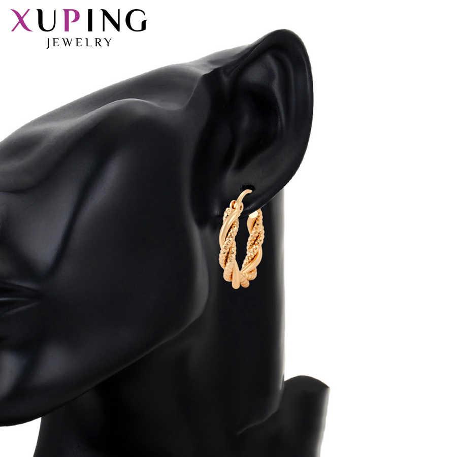 Xuping bijoux simplicité Style romantique rond en forme à la mode Design boucles d'oreilles pour les femmes élégant cadeau S195.1-99399