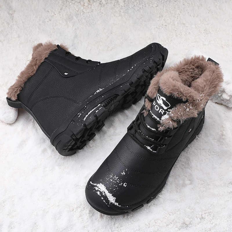 Talla grande 48 botas de invierno para hombre Botas de nieve