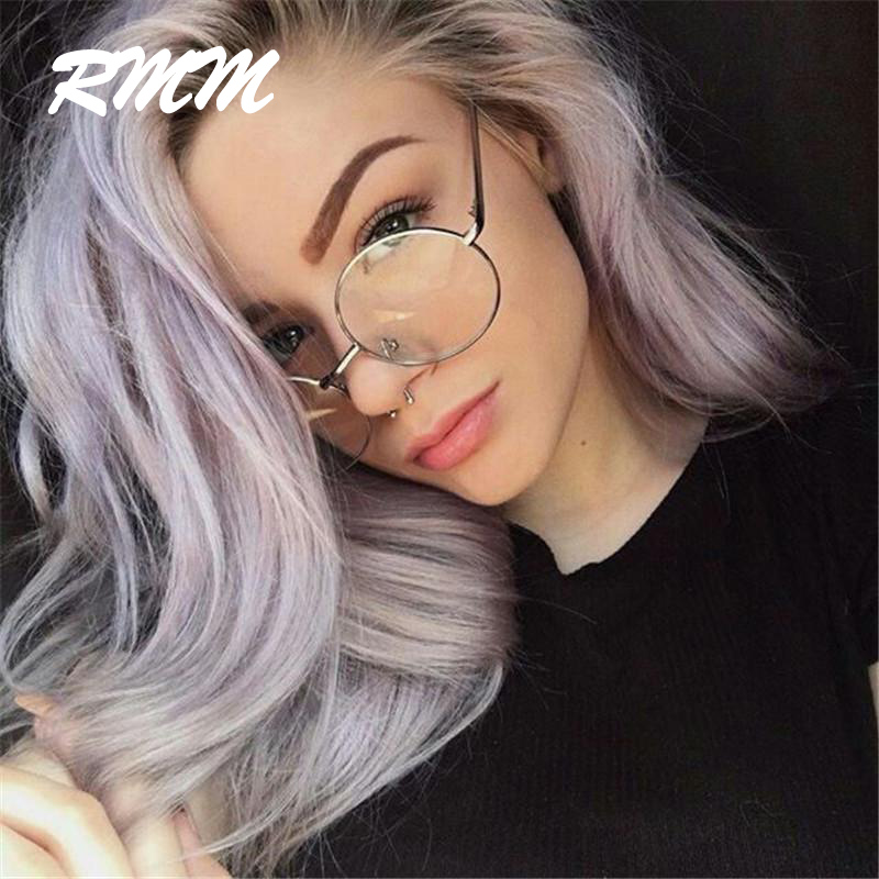 2019 New Fashion Simple Unisex Round Plain Glasses For Men Women Metal Frame Glasses For Wedding Party