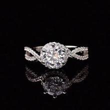 Кольцо из серебра 925 пробы с муассанитом карат d vvs роскошные