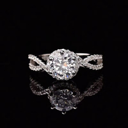 925 Silver Ring moissanite1.00ct D VVS Deluxe Jewelry customizable 18K Gold Platinum Wedding Ring for Women