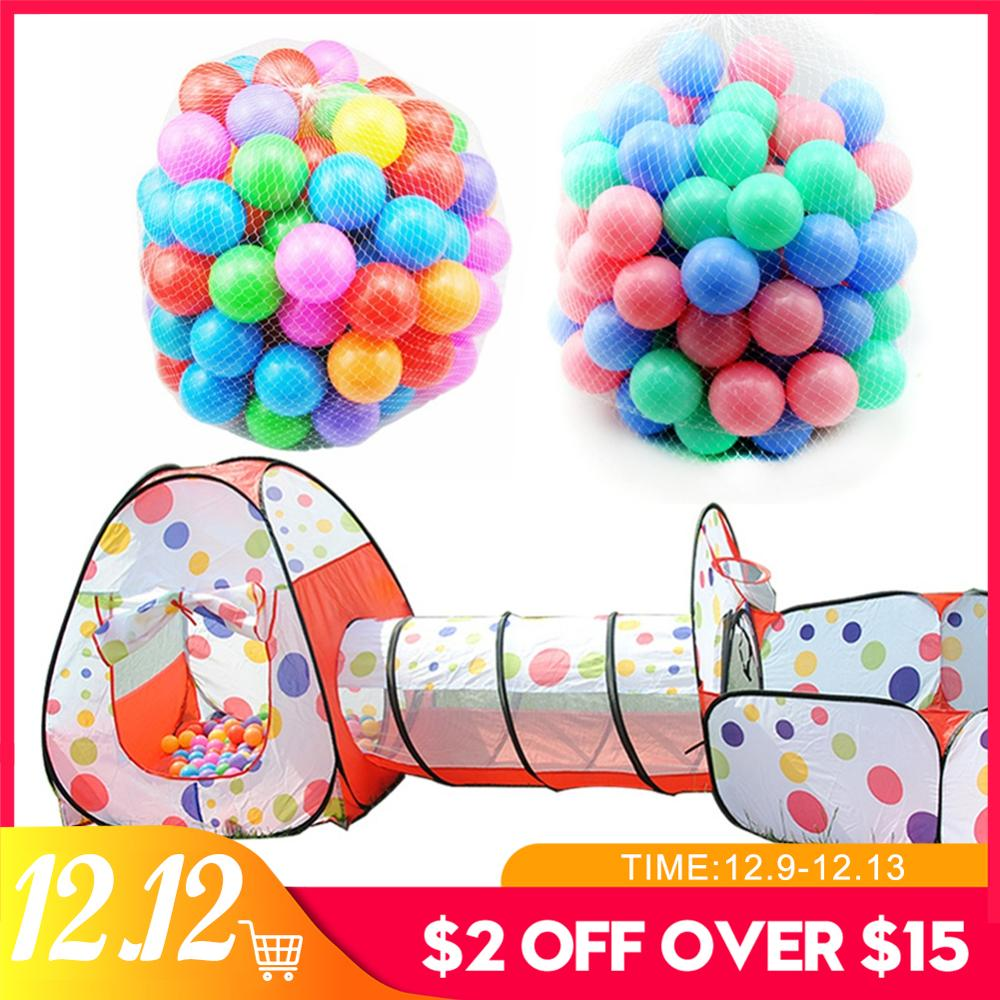 Play Tent House Ocean Ball 3PCs Crawling Tunnel Set Ocean Ball Pool Tipi Tent Play Tent Ball For Baby Toys Play Toys Pool House