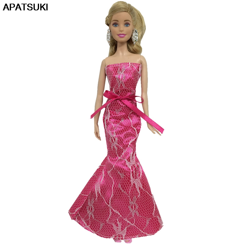 """Toy Dolls Party Dress Gown Skirt Fashion Clothes For 11.5/"""" Doll Mermaid Tail 1//6"""