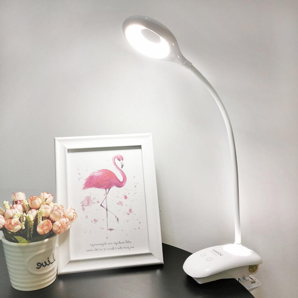 Светодиодная флексографская настольная лампа, настольная лампа, USB перезаряжаемая, светодиодная, портативная, на клипсе, сенсорный выключа...