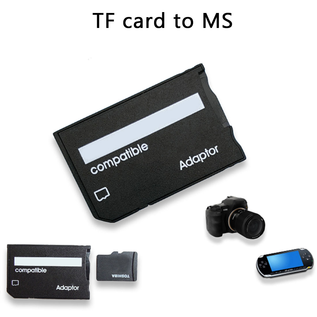 NOYOKERE Top Quality TF Card Reader Memory Stick Mini Micro SD Card Adapter For MS Card MS Pro Duo Adapter Converter Card Case