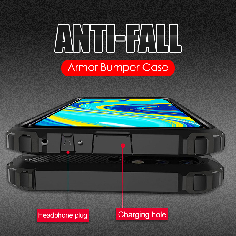 Luxury Armor Shockproof Phone Case For Xiaomi Redmi Note 9S 9 8 7 Pro Max 8T K30 Pro K20 8A 7A PC Silicone Full Protective Cases(China)
