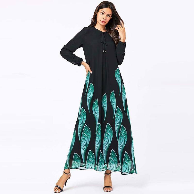 Abaya Dubai Hijab Muslim Dress Kaftan Caftan Marocain Turkish Dresses Abayas Islam Clothing For Women Kleding Tesettur Elbise